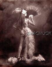 Showgirl Semi Nude Feathers SEPIA HENDRICKSON PHOTO Original Artist Studio D496
