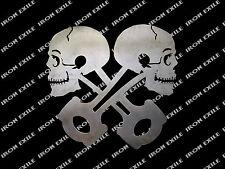 Crossed Skull Piston Heads Rat Rod Garage Sign Metal Wall Art