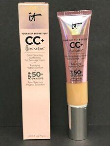 It Cosmetics CC+ ILLUMINATION Foundation SPF 50+ 1.08oz MEDIUM TAN NEW