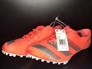 NEW Adidas Adizero Finesse Running Spikes - Orange Size 12 EE4598 Track