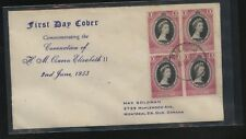 Malaya, Malacca     27   on  Coronation cover  1953   block   MR1001