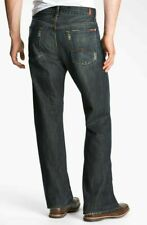 $189 Mens 7 For All Mankind Relaxed Cotton Jeans Dark Distressed Montana 28 XS