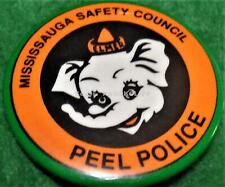 PEEL POLICE MISSISSAUGA SAFETY COUNCIL ONTARIO PIN / BUTTON