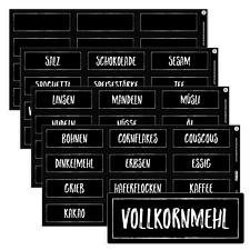 48 Haushaltsetiketten / Haushaltsaufkleber schwarz für Vorratsdosen - 7,0x2,6cm