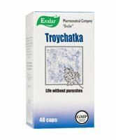 Evalar Trojchatka Troychatka 40 Kapseln Parasiten Im Magen 100% Natürlich