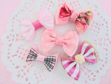 """50 Pre-Made 1.5"""" Pink Ribbon Bow Design/Hair Craft Supply/Sewing/Trim/Sew F9-Mix"""
