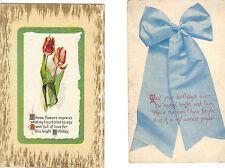 2 Unused Antique Birthday Post Cards