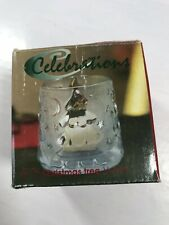 """Celebrations Frosted Christmas Tree Votive Candle Holder 3 1/4"""" Mikasa Holiday"""