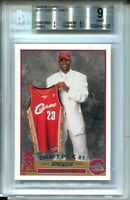 2003 '03 Topps Basketball 221 Lebron James Rookie Card RC Graded BGS MINT 9