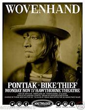 WOVENHAND / PONTIAK / BIKE THIEF 2O14 PORTLAND CONCERT TOUR POSTER-Neofolk, Rock