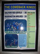 Salford Red Devils 30 Warrington Wolves 31 - 2016 - framed print