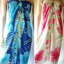 Bali Mumu Sarong Tube Dress Boho Hippy Hibiscus Frangipani Size S M L XL 8-22