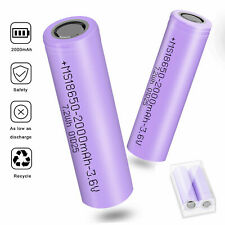 2000mAh  Li-ion Rechargeable Battery For Flashlight Torch LED