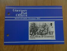 1982  GUERNSEY  CHRISTMAS 1982  PRESENTATION PACK  IN MINT CONDITION