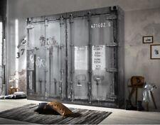 Kleiderschrank Container Vintage Industrie Design Loft Möbel 4-türig 240cm