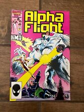 Alpha Flight Marvel Comic Book #44 March 1987 VF
