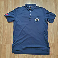 Polo Golf Ralph Lauren Mens L Shirt 2012 US Open Olympic Club Pima Cotton Blue