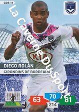 GDB-11 DIEGO ROLAN # URUGUAY GIRONDINS BORDEAUX CARD ADRENALYN FOOT 2014 PANINI