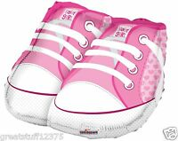 "Balloon 18"" Mylar Baby Girl Shoes Pink Girl's Shoes It's a Girl Foil Mylar Party"