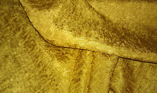 """GOLD/MUSTARD CRUSHED WOVEN FABRIC 54/56"""" WIDE BTY"""
