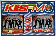 NSYNC KIIS FM 102.7 Limited Edition Sticker 76 Gas Coca-Cola Radio Station Large