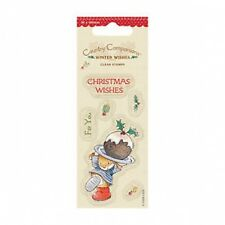 Country Companions 50 x 100mm Mini Clear Stamps - Winter Wishes - Christmas Cake