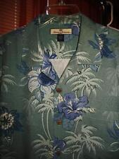 TOMMY BAHAMA HAWAIIAN SHIRT PALMS ,FLOWERS CASUAL!SIZE L !100%SILK! !