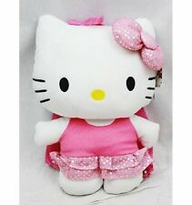"""Licensed Girls Plush Backpack - Hello Kitty - Bling Bling Pink Dress 15"""""""