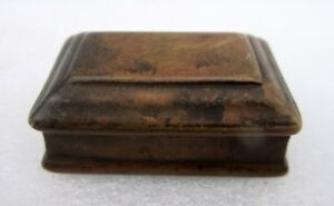 Vintage Old Rare Hand Crafted Brass Tobacco Opium Keeping Snuff Betel Small Box