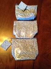 3 Old Navy Blue Geometric Print Bags-Great For Cosmetics, Coins Or First Aid