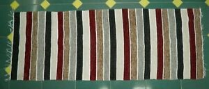 kilim Handmade carpet rug 180×64 cm Natural Egyptian cotton and wool and Color