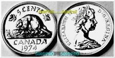 CANADA 1974 CANADIAN BEAVER NICKEL QUEEN ELIZABETH PROOF LIKE 5 CENT PL COIN UNC