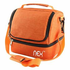 Nex Lunch Bag Double Cooler Carry Bag Tote Leakproof Lunch Box