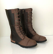 NEW! SOREL Major Maverick Women's 7.5 Tobacco Zip Lace Up Leather Boot MSRP $200