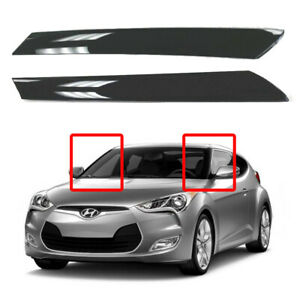 New OEM Front Windshield Garnish Molding LH RH 2p Set for Hyundai Veloster 11-17