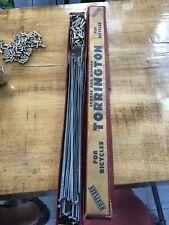"""96 Vintage Torrington Rustless Bicycle Spokes And Nipples 080-060 9 5/8"""" MSL"""