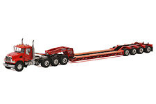 "Mack Granite Truck w/ 4 Axle Rogers Lowboy Trailer ""RED"" - 1/50 - WSI #33-2006"