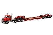 "Mack Granite Truck w/ 4 Axle Rogers Lowboy Trailer ""RED"" - 1/50 - WSI #33-2006"