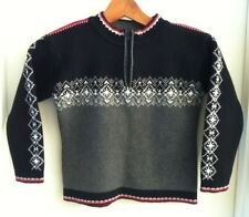 Hanna Andersson Black White Red Nordic Sweater With Zip Neck Size 110 Boy