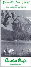 1950s TRAVEL BROCHURE EMERALD LAKE CHALET CANADIAN PACIFIC ROCKIES RESORT