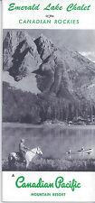 1950s TRAVEL BROCHURE EMERALD LAKE CHALET CANADIAN PACIFIC ROCKIES RESORT