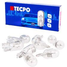 10x Socket vetro lampadine w5w luci di posizione kennzeichenlich Auto Lampada t10 12v 5w