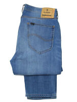Mens Lee Arvin slim tapered stretch jeans 'Instinct Blue' RRP£85 (Cut Label) L39