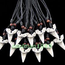 12 pcs simulation shark teeth pendant necklace W013
