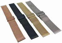 Milanaise Edelstahl Uhrenarmband Metallband 10-24mm Mesh Armband Uhr Band