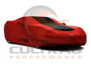 2015-2019 C7 Corvette Z06 Genuine GM Redline Outdoor Car Cover Z06 Logo 23187877