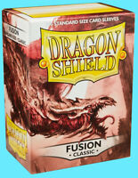 100 DRAGON SHIELD CLASSIC Standard Size FUSION Card Sleeves deck protector mtg