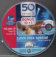 10 +1 Trennscheibe 115x1mm Dronco INOX Metalldose Metall/Stahl Edelstahl