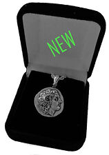Alexander the Great and Athena Coin Pendant w Chain, Small Size, (78Pendchain-S)