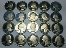 Half Roll 1981-S Proof Washington Quarters - 20 Mirror like Deep Cam BU Coins
